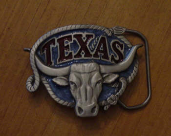 Longhorn Roper Belt Buckle