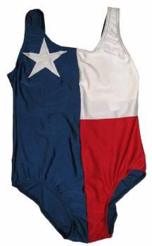 Texas Flag One Piece Womens Swimsuit In Swimwear Stxop