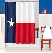 Texas Flag Shower Curtain In Texas Bathroom Stxop