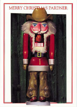 Cowboy Nutcracker Christmas Card