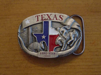 Texas Lone Star State Belt Buckle