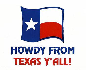 Howdy From Texas Y All Decal In Decals Stxop