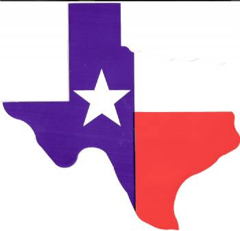 LARGE Magnet Texas Flag in the Shape of Texas