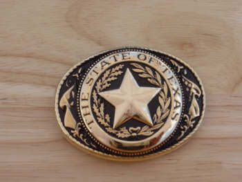 Texas Seal Medium Antique Brass Finish