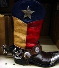 Texas Cowboy Boot Planter In Miscellaneous Stxop