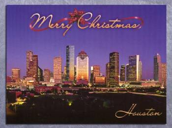 Merry Christmas Houston Christmas Card