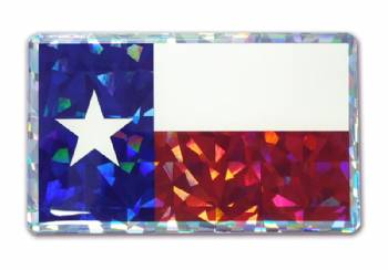 Texas Flag Reflective Domed Decal In Decals Stxop