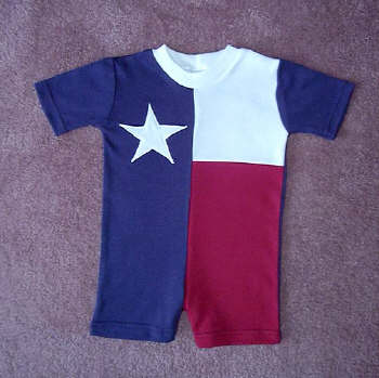 Texas Flag Baby Rompers