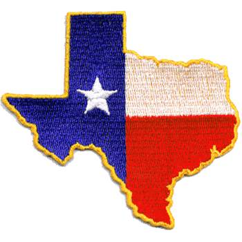 Texas Shaped Flag Patch