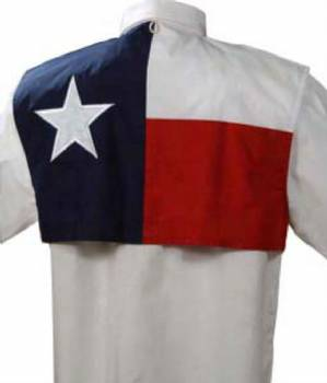 Texas Flag Short Sleeve Fishing Shirt