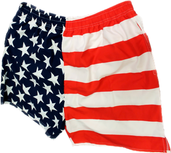 American Flag Mens Swim Trunks