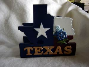 Shape of Texas Business Card Holder
