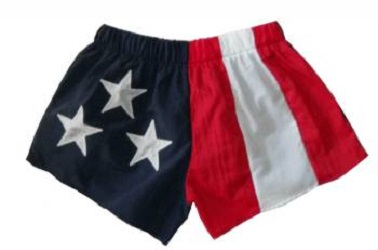 American Flag Adult Low Rise Shorts
