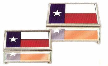 Texas Flag Jewelry Box; Large