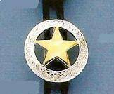 Silver Circle Bolo with Gold or Silver Star
