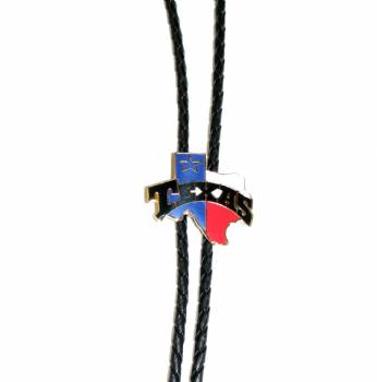 Texas shaped Bolo with Texas flag colors