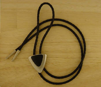 Silver and Black Triangle Bolo