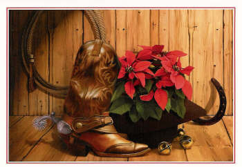 Boots and Poinsettia