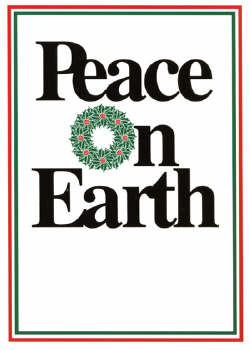 GOLD FOIL STAMPED Peace on Earth Christmas Card