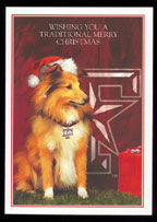 Texas A & M Reveille Christmas Card