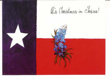 texas flag christmas card