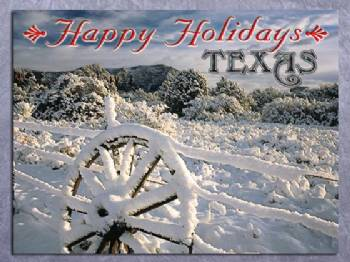 Happy Holidays Texas Christmas Card