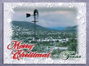 Merry Christmas from Texas Christmas Card
