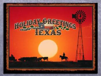 Texas Christmas Cards.Holiday Greetings From Texas Christmas Card