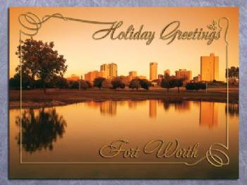 Holiday Greetings Fort Worth Christmas Card