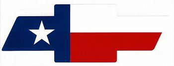 texas flag chevy bowtie decal in decals stxop. Black Bedroom Furniture Sets. Home Design Ideas