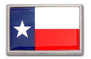 Texas Flag Chrome Emblem