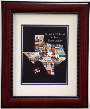 It Just Ain't Texas without the Texas Aggies Print Framed