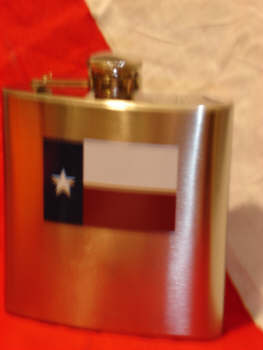 Texas Flag Hip Flask