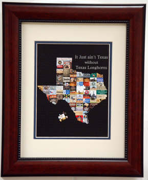 It Just Ain't Texas without the Texas Longhorns Print