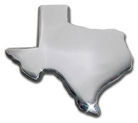 Texas Shape Chrome Emblem