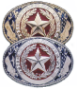 El Grande Texas Seal Belt Buckle Gold or Silver with colored enamel