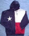 "Texas Flag ""Hoodies"" Hooded Sweat Jacket, Adult"